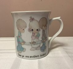 1982 Precious Moments-Bear Ye One Another's Burdens Coffee Mug /Cup 8 Ounces by Cachebuster on Etsy