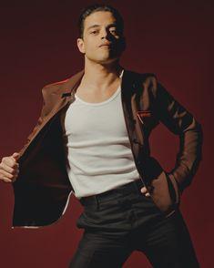 "Rami Malek, Catching Mercury - The New York Times Rami Malek's performance in the Queen biopic ""Bohemian Rhapsody"" particularly astonished Freddie Mercury's bandmates, who felt the actor was not merely portraying Mercury, but inhabiting him. Hot Actors, Actors & Actresses, Rami Malek Freddie Mercury, Rami Malik, Rami Said Malek, Beautiful Men, Beautiful People, Pretty People, Amazing People"