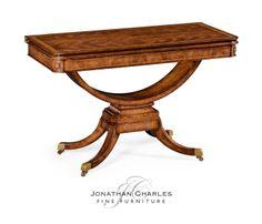 Biedermeier style card table #hpmkt #jcfurniture #jonathancharles #Furniture #InteriorDesign #Windsor