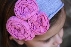Upcycled T-Shirt Flower Headband