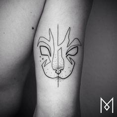 WAUW: deze tattoos bestaan uit slechts één lijn - Bod... (5)