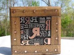 Old Letterpress Printing Type Graphic Design Letter R Metal & Copper 31 R 's