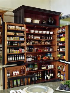 pantry with doors