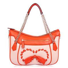 Fashion Bow-knot Chain Women Genuine leather Shoudler bags/handbags OUOVO HDC113