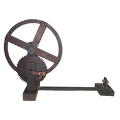 Japanese Spinning Wheel, early 20th century,  LENGTH:	 48 in. (122 cm),  DEPTH:	 16.5 in. (42 cm),  HEIGHT:	 30.5 in. (77 cm)