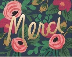 Merci Rifle Paper card at On Paper