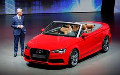 @Audi Cook CEO Rupert Stadler presents the new Audi A3 cabriolet during a preview by the Volkswagen Group