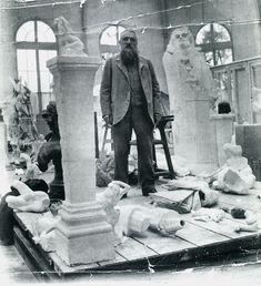 studio atelier 우 artist french sculptor Auguste Rodin Auguste Rodin, Musée Rodin, Artist Art, Artist At Work, Rodin Artist, Modern Sculpture, Sculpture Art, Famous Artists, Great Artists