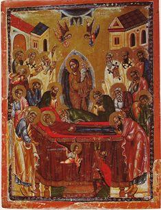 Успение Пресвятой Богородицы. Икона, вторая половина 13-го века