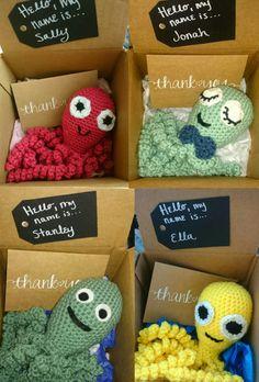 Crochet Octopus Toy for Preemies / Newborn Babies by SweetYarnage
