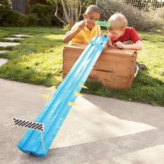 50 Outdoor Summer Activities For Kids | Six Sisters' Stuff - marble launch