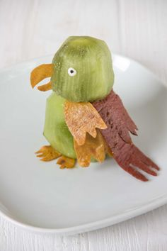 Kiwi and fruit leather parrot