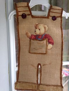 It's a boy burlap door hanger doubles as yard flag when mom and baby come home