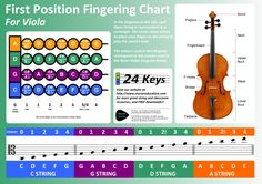 Viola Poster - First Position fingering chart