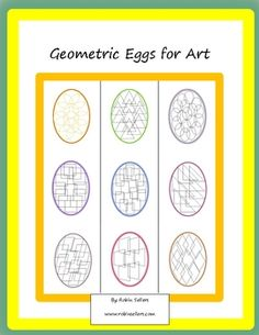 Free for a limited time: Paint, color, use ink or markers. It's your choice with these geometric coloring eggs. This packet contains 11 geometric e...