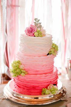 Hochzeitstorte mit Farbverlauf