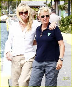 Ellen DeGeneres & Portia de Rossi: So Happy Together!: Photo Ellen DeGeneres and wife Portia de Rossi share some quality time with each other on St. Bart's on Thursday (December Portia, and Ellen, spent time… Ellen Degeneres And Wife, Ellen And Portia, Portia De Rossi, The Ellen Show, St Barts, Polo Tees, Born This Way, Happy Together, Cool Inventions