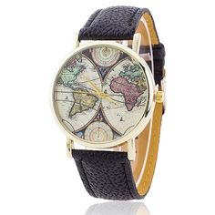 Cool moving airplane watch the real nomad therealnomad world map womens watch gumiabroncs Choice Image