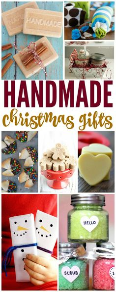Homemade Christmas Gifts on a Budget! Great ideas to share with friends and co-workers without over spending!