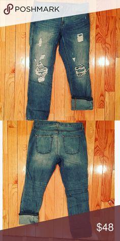 J.CREW Boyfriend Jeans Barely worn! Boyfriend fit. J. Crew Jeans Boyfriend