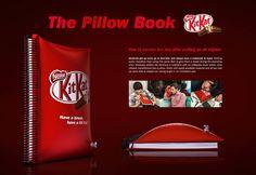"""Записная книжка, титульная страница которой легко превращается в надувную подушку - интересное предложение от """"KitKat"""". Предназначена специально для студентов, которые любят вздремнуть в перерывах между парами. - Host My Pics"""