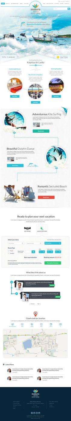 Makara Resorts - Kalpitiya (Revamp) by Yashi , via Behance | #webdesign #it #web #design #layout #userinterface #website #webdesign < repinned by www.BlickeDeeler.de | Take a look at www.WebsiteDesign-Hamburg.de