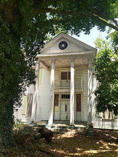 For just $15,000, this Greek Revival home in Cokesbury, South Carolina is available to the right homeowner willing to bring it back to its former glory.