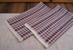 Linen Cotton Towels set 2 Handmade knitted от DiamondWoodMaks