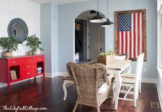 Winter Dining Room Decor - The Lilypad Cottage