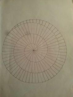Krásná mandala nakreslená pomocí Pythágorovy věty