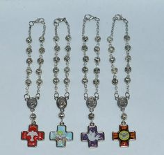 pulseras denarios de alpaca souvenir comunión bautismo