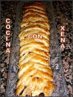 COCINA CON XENA: Trenza de hojaldre con carne etc...