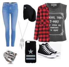"""""""Untitled #98"""" by marvel1 ❤ liked on Polyvore featuring Paige Denim, Wildfox, WithChic, Converse, Lucky Brand and Givenchy"""