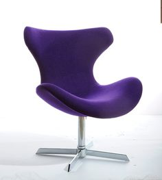 Modrest Aludra Modern Purple Fabric Lounge Chair - Lounge & Chaise - Occasional