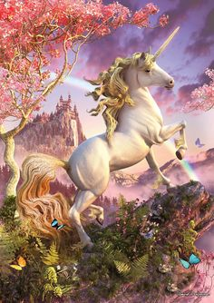 Spring has Sprung Unicorn Card by David Penfound