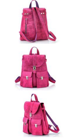 Backpack in a single copy | Classic Backpack leather | Vintage Rucksack for Her | Leather Rucksack | Handmade Backpack | Pink backpack