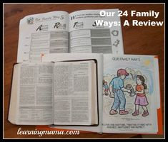Review of Our 24 Family Ways used for family devotional & character training