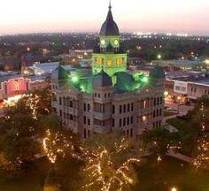 Denton, Texas - courthouse on the square
