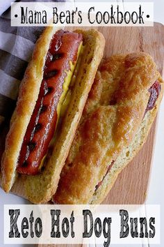 Enjoy hot dogs to their full potential with these Keto Hot Dog Buns. They are su… Enjoy hot dogs to their full potential with these Keto Hot Dog Buns. They are super easy to make and ready in 20 minutes from start to finish! Low Carb Dinner Recipes, Low Carb Desserts, Keto Dinner, Diet Recipes, Cooking Recipes, Diet Meals, Diet Foods, Bread Recipes, Recipies