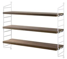 Etagère String Pocket / Version bois - L 60 x H 50 cm Noyer / Montants blancs - String Furniture - Décoration et mobilier design avec Made in Design