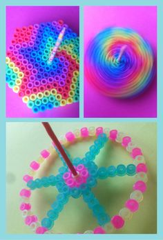 Spinning Top perler beads by Hand made presents # Geometry