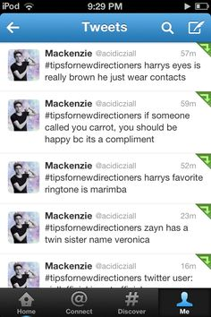 #tipsfornewdirectioners Zain is how he really spells his name but people spell it Zayn and he hates that. Niall can't really play guitar they have someone backstage playing it for him like the stunt in Freaky Friday. Louis from Wolverhampton Liam is from Bradford Niall is really British and from Doncaster Zayn is acctualy Mexican/Irish with a fake British accent he's from Mullingar and Harry is really Canadian.