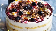 Adam Liaw's Chrissamisu! Part-tiramisu and part-trifle, this simple, no-bake Christmas dessert is absolutely foolproof.