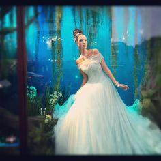Harrods Christmas windows, Tiana, The Princess and the Frog by Ralph & Russo.