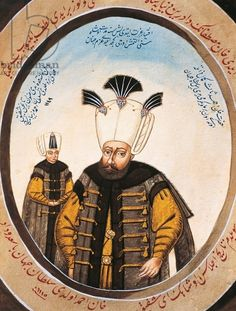 Portrait of Ahmed III (Istanbul, 1673-1736), Sultan of Ottoman Empire, with prince