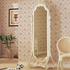 Large Antique Ornate Gold Oval Freestanding/Cheval Mirror 5ft5 x ...