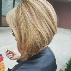 Angled Bob at Evy's Hairstyles in Torrance. Angled Bobs, Inverted Bob, Jw Fashion, Ombre Hair, Bob Hairstyles, Hair Ideas, Hair Cuts, Long Hair Styles, Beauty
