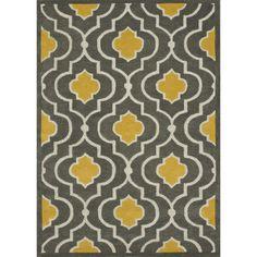 Hand-tufted Logan Grey/ Gold Wool Rug (710 x 110)