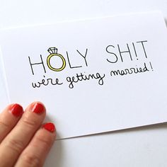 Funny Engagement Card  We're Getting Married by JulieAnnArt, $4.00