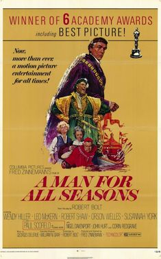 Pin it to Win it - MRR Oscar Giveaway - A Man for All Seasons - Best Picture 1966